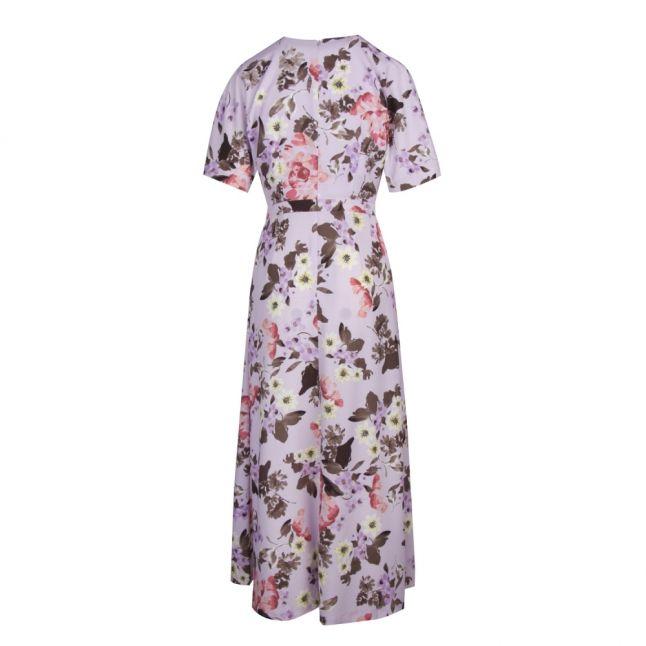 Womens Lavender Frost Armoise Crepe Maxi Wrap Dress
