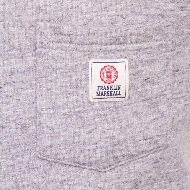Mens Sport Grey Logo Pocket Crew Sweat Top