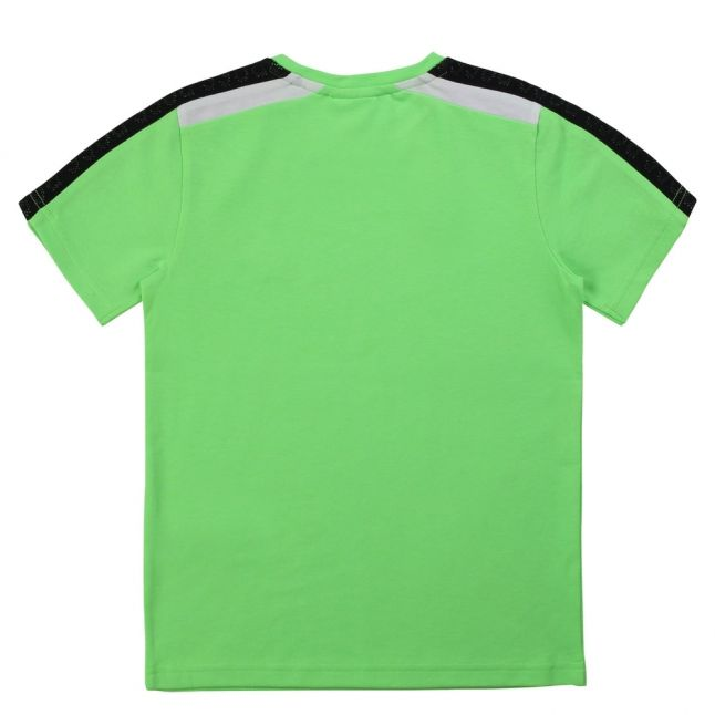 Boys Green Small Patch S/s T Shirt