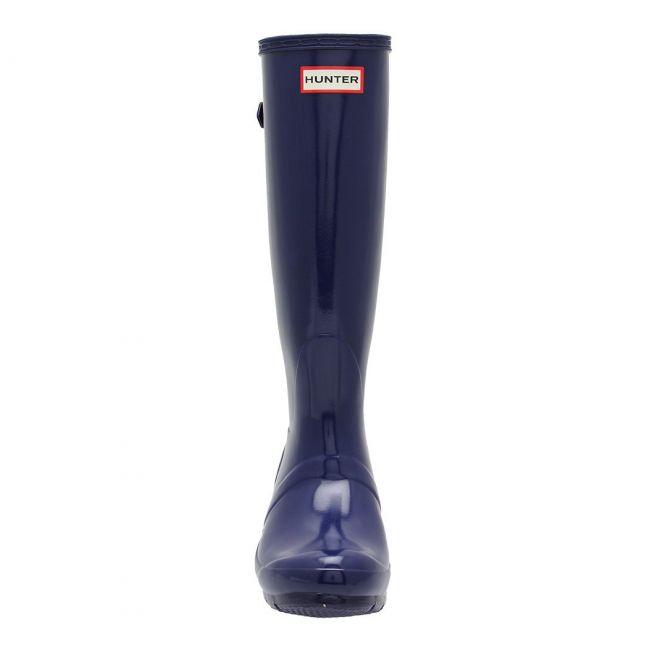 Womens Balder Blue Original Back Adjust Gloss Wellington Boots