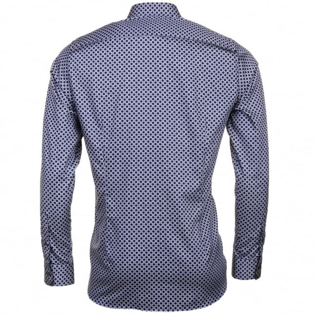 Mens Blue Lennons Geo Printed L/s Shirt