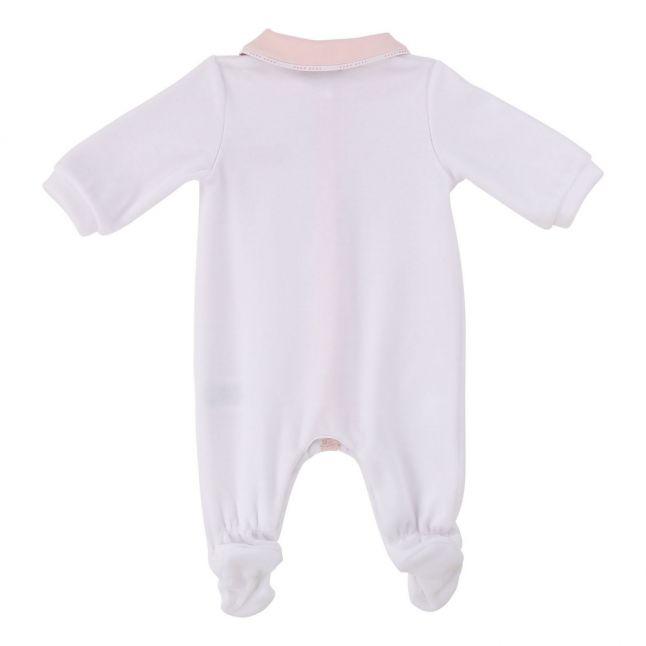 Baby White Soft Logo Tape Babygrow