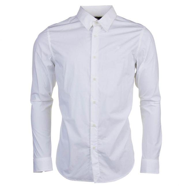 Mens White Core Stretch L/s Shirt