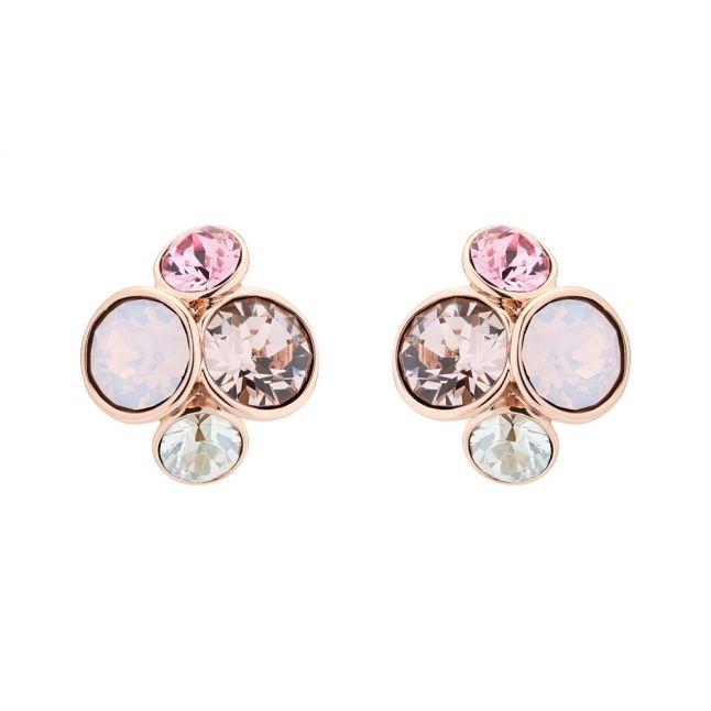 Womens Rose Gold/Pink Multi Lynda Cluster Studs