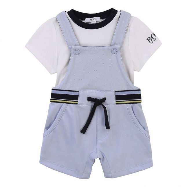 Baby Pale Blue Top & Dungaree Gift Set