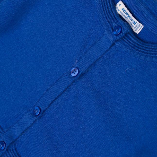 Girls Blue Basic Knit Cardigan