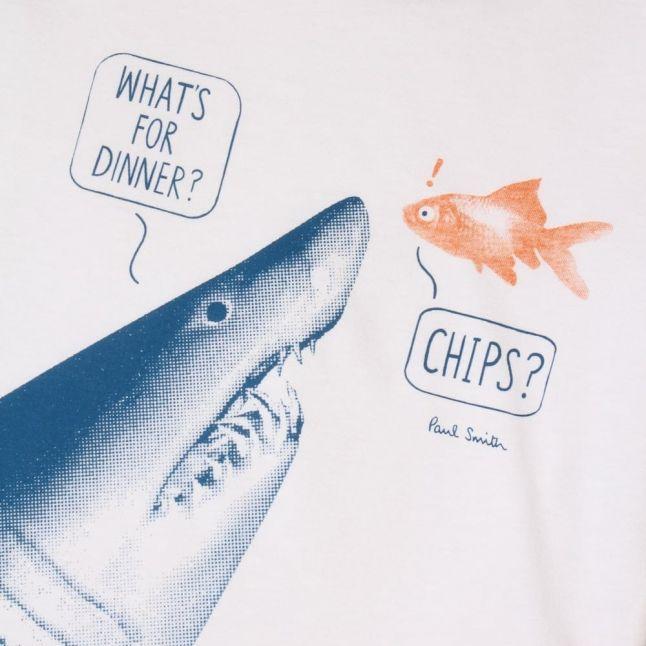 Boys White Lish S/s Tee Shirt
