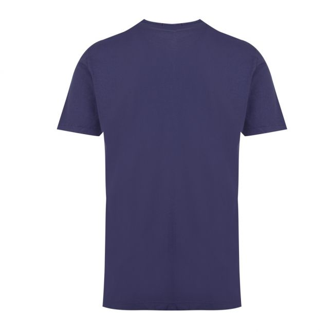 Mens Night Blue Heritage Logo S/s T Shirt