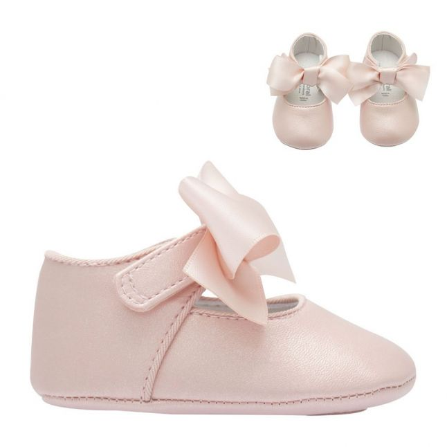 Baby Pink Bow Mary Jane Shoes (15-19)