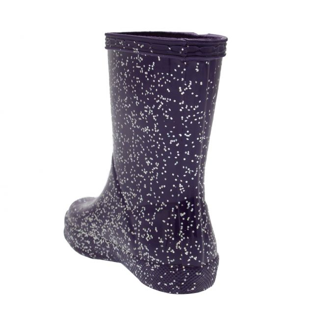 Girls Cavendish Blue First Classic Giant Glitter Wellington Boots (4-8)