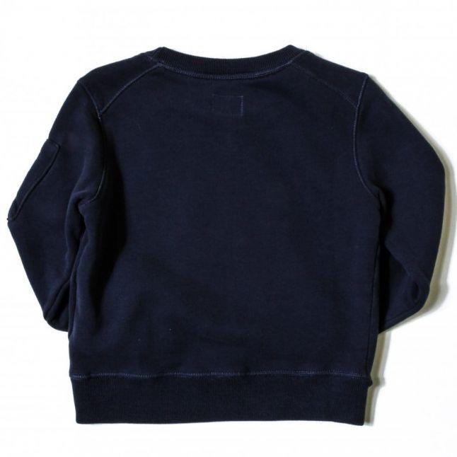 Boys Blue Logo Portal Sleeve Sweat Top