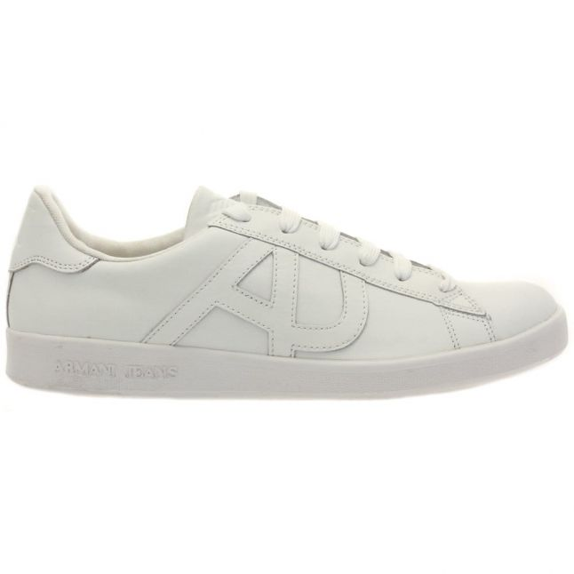 Mens White Logo Trainers