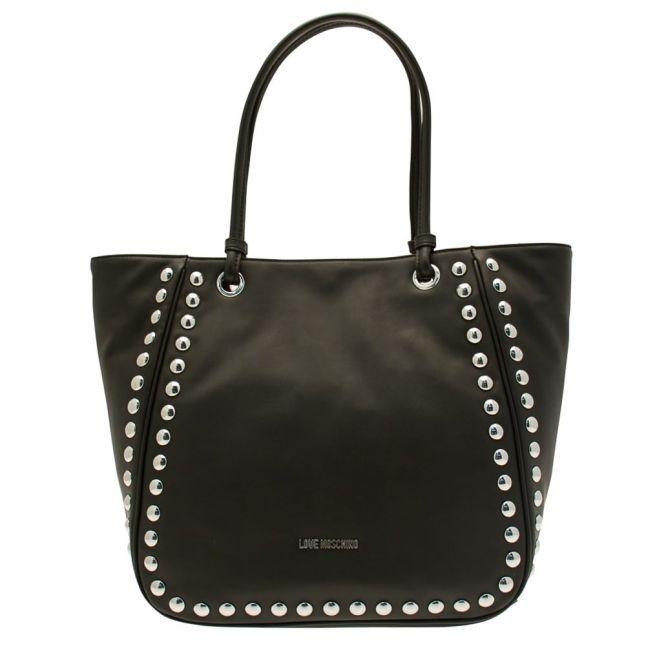 Womens Black Stud Tote Bag