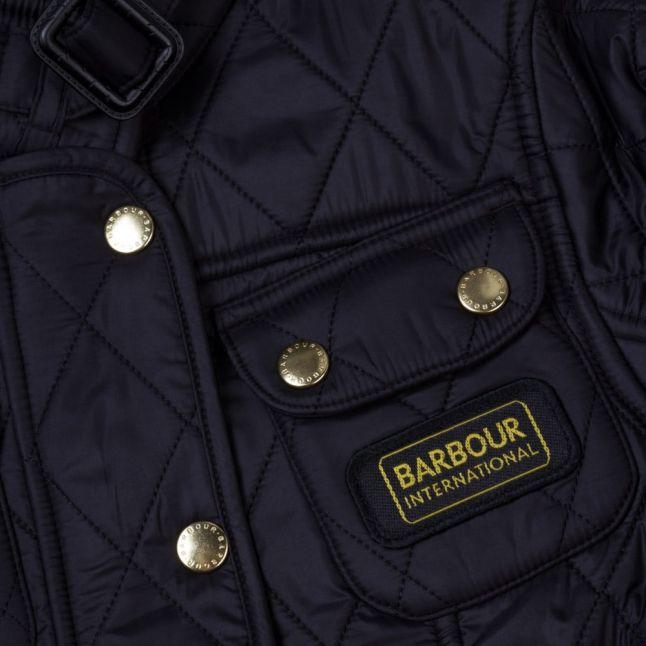 Girls Black International Quilted Jacket