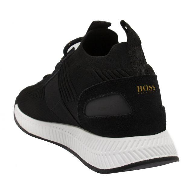 Athleisure Mens Black/Gold Titanium_Runn Knit Trainers
