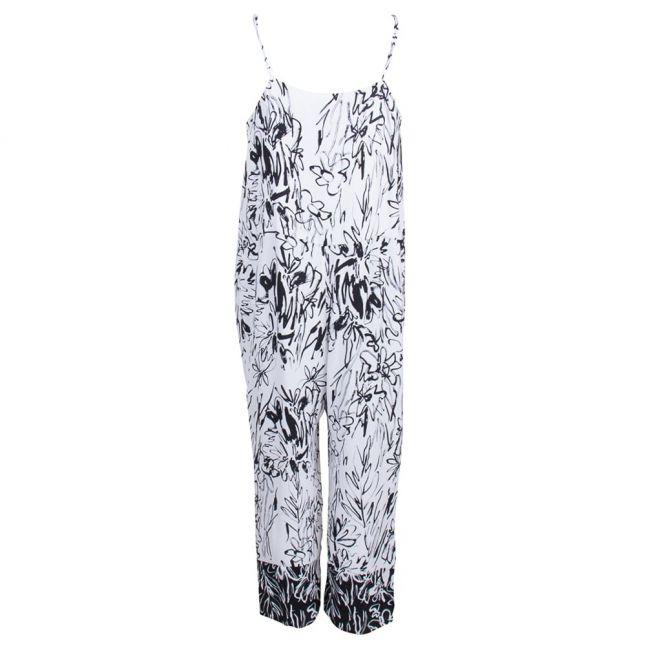 Summer White & Black Copley Crepe Jumpsuit