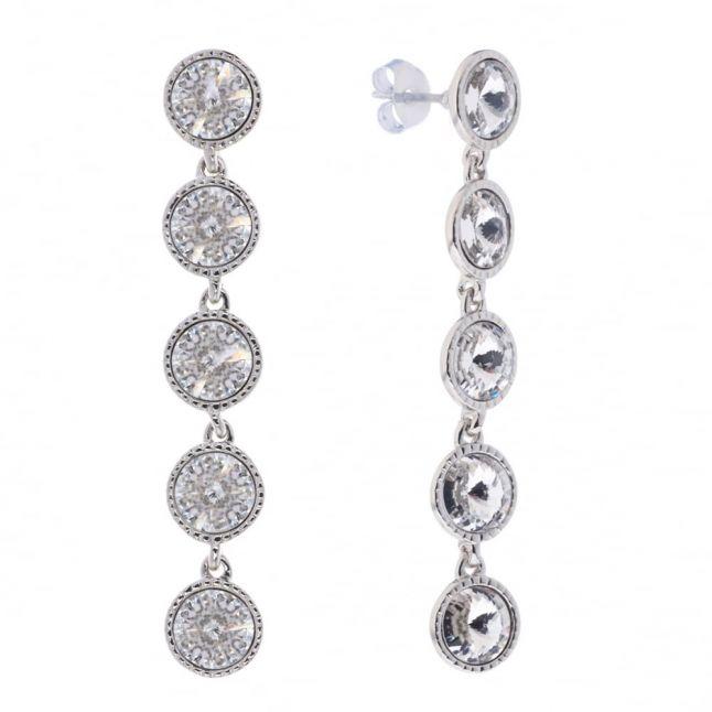 Womens Silver & Crystal Rizza Drop Earrings