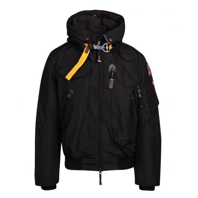 Mens Black Gobi Base Hooded Jacket