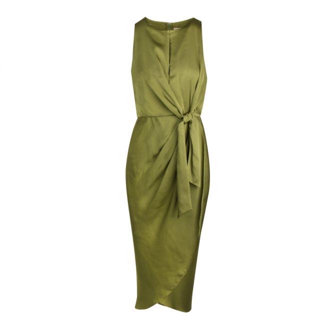 Womens Khaki Pohshan Midi Dress