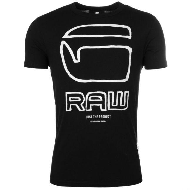 Mens Dark Black Ocat Regular Crew S/s Tee Shirt