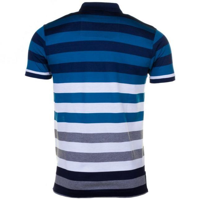 Paul & Shark Mens Blue Assorted Striped Shark Fit S/s Polo Shirt