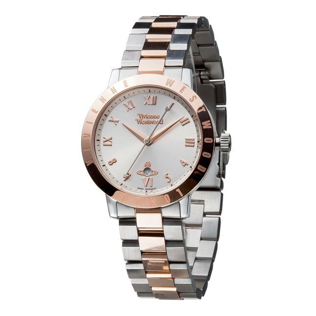 Womens Silver & Rose Gold Bloomsbury Bracelet Watch