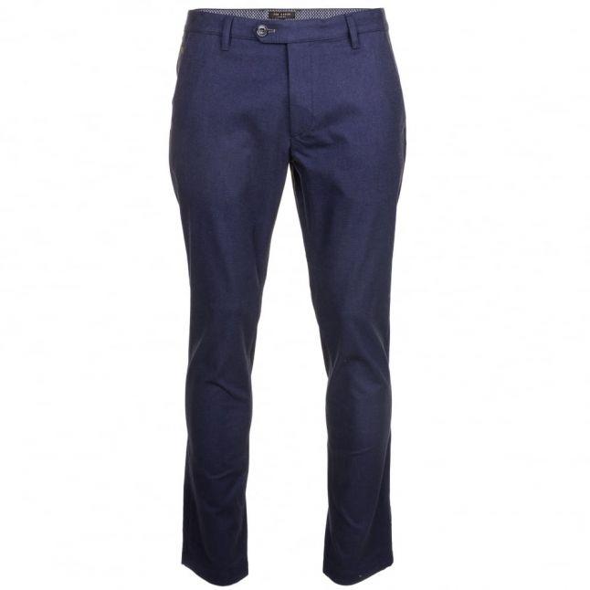 Mens Navy Rustler Slim Fit Trousers