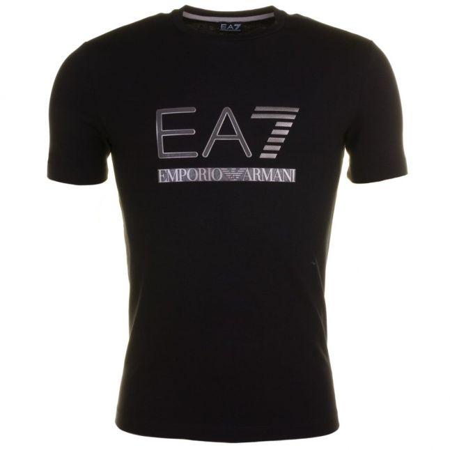 Mens Black Training Logo Series Crew S/s Tee Shirt