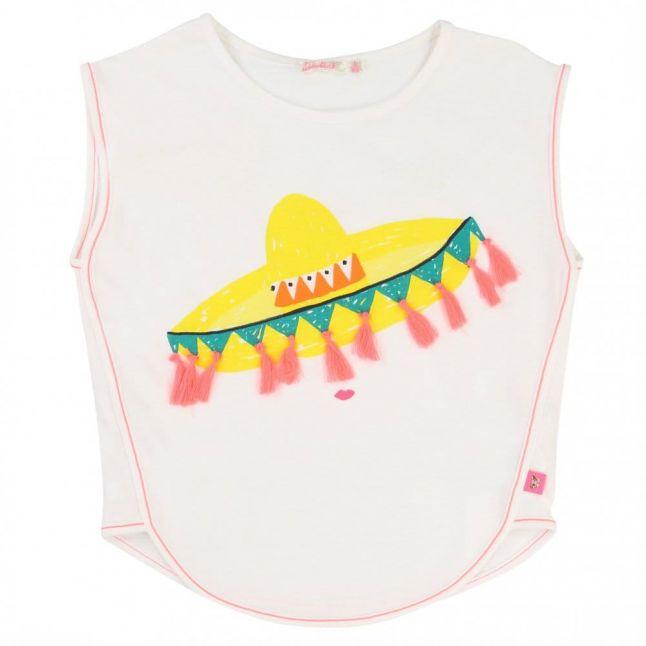 Girls White Sombrero Tee Shirt