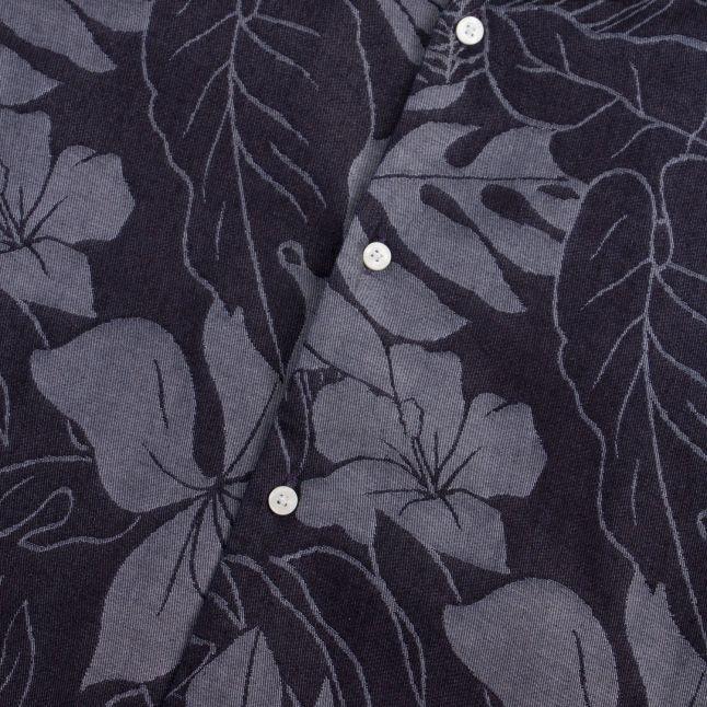 Tommy Hilfiger Mens Carbon Navy Floral Jacquard S/s Shirt