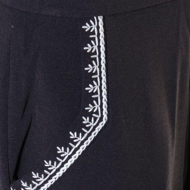 Womens Utility Blue Jasmine Stitch Trousers