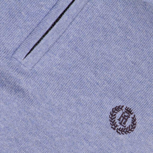 Mens Frost Marl Moray Regular Half Zip Knitted Jumper
