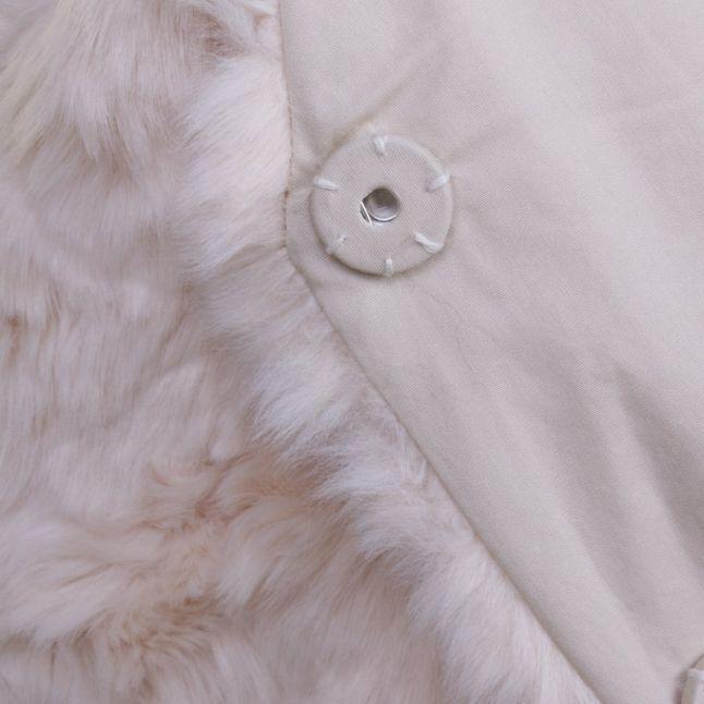 Womens Sandshell Viperlo Long Faux Fur Waistcoat