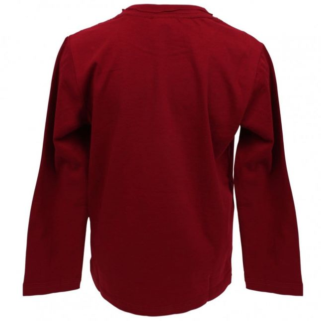 Boys Takeo L/s T Shirt in Bright Red