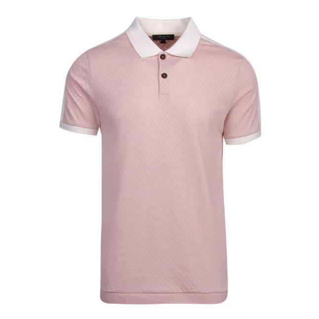 Mens Light Pink Virtual Overarm Detail S/s Polo Shirt