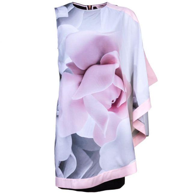 Womens Ecru Lizzey Porcelain Rose Printed Tunic Dress