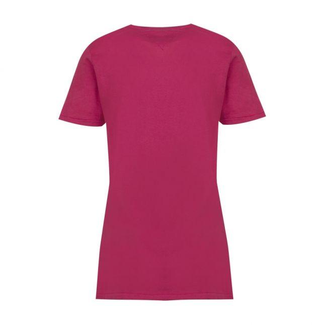 Womens Persian Red Round Logo S/s T Shirt