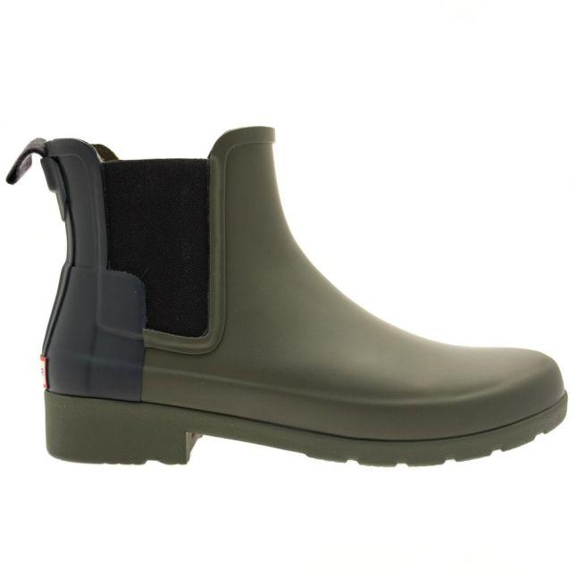 Womens Dark Olive & Navy Original Refined Chelsea Wellington Boots