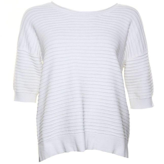 Womens Summer White Heatwave Dinka Crew Sweater