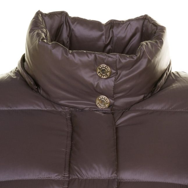 Womens Taupe Duck Down Puffer Jacket