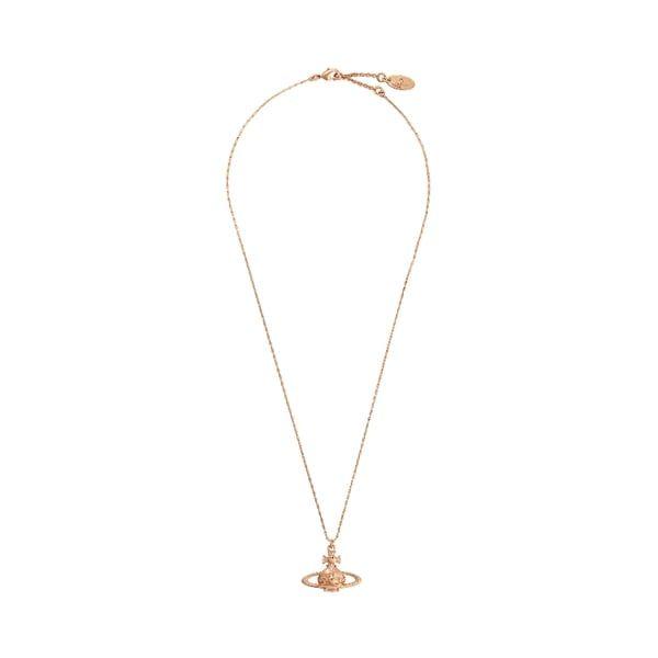 Womens Pink Gold Suzie Pendant Necklace