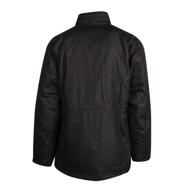 Mens Black Sapper Waxed Jacket