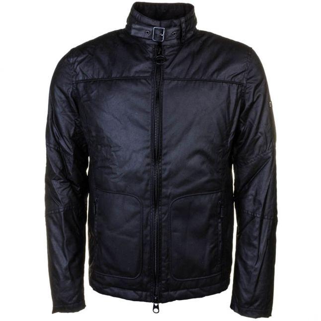 Mens Black Winter Track Waxed Jacket