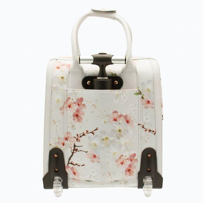 Womens Light Grey Alayaa Oriental Blossom Travel Bag