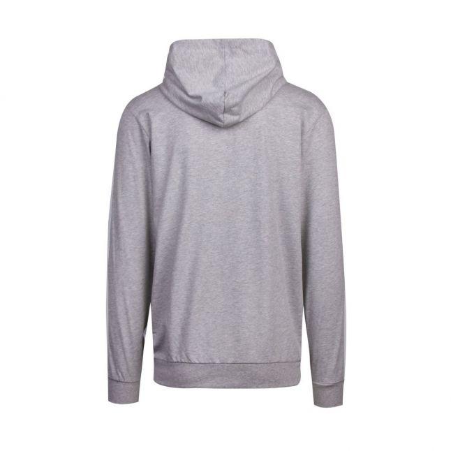 Mens Medium Grey Authentic Hooded Zip Through Sweat Top