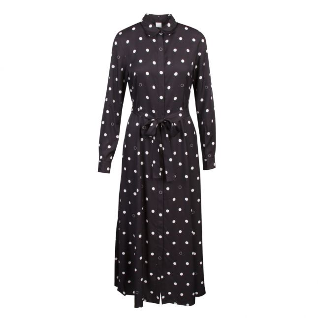 Casual Womens Black Elkas Polka Dot Midi Dress