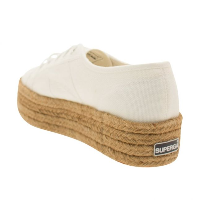 Womens White 2790 Cotropew Flatform Trainers