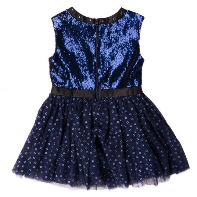 Girls Twilight Blue Sequin Dress