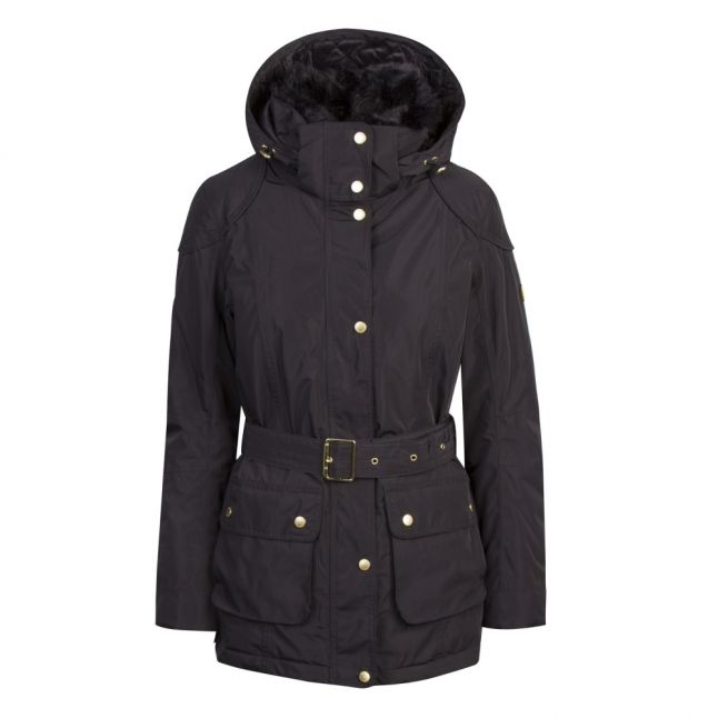 Womens Black Bowden Waterproof Breathable Hooded Coat