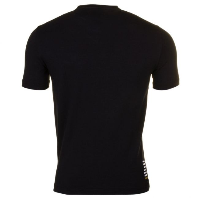 Ea7 Mens Black Training Core Identity Stretch S/s Tee Shirt